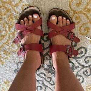 Birkenstock Shoes - Birkenstock red Birki's